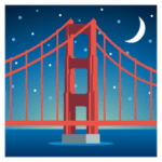🌉 Jembatan Di Malam Hari JoyPixels