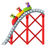 🎢 Roller Coaster JoyPixels