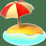🏖️ Pantai Dengan Payung Apple