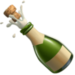 🍾 Botol dengan Penyumbat Terlepas Apple