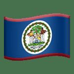 🇧🇿 Bendera Belize Apple